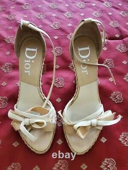 Dior Women's Wedge Sandals Size 8 (EU 38)