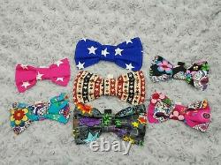 Dog bows, Bowties, (slide on collar) Chihuahua Yorkie puppy cat Pet