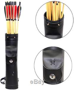 Dostyle Pure Handmade Traditional Archery Shoulder Back Quiver Bow Genuine Arrow