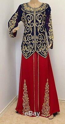Dubai Kaftan Designer Moroccan caftan Jilbab prom Maxi women's Dress cocktail