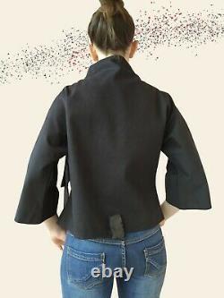 Elegant jacket, unique hand-painted piece