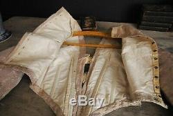 Exquisite Antique Wedding Gown 1840's Victorian Dress Mauve Silk Damask & Bows