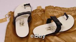 Ferragamo Creations Shoes Black Nappa Handmade Ponza Bow Tie Sandal 6b Us 36 New