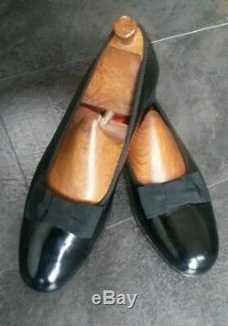 Finest English Hand Made Bow Pump Dress Shoes From G J Cleverly, Size 10.5 UK