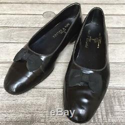 Foster & Son Shoes. Vintage Bespoke Handmade Patent Opera Bow Pumps UK Size 10 E