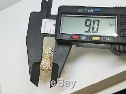 GOLD Bow Ring 14k yellow solid real simulated Diamond size 7 ask 5 6 8 9