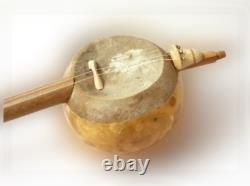 Genuine Turkish Handmade Gourd Kabak Kemane Kemence HQ Clip Tuner+Bow+Case+Resin