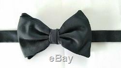 Georgio ARMANI Hand Made Men's Bow Tie Black 100% Silk Italy
