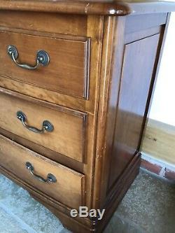 Grange Bow Fronted Cherry Wood Chest Of Drawers. Hand Made In France