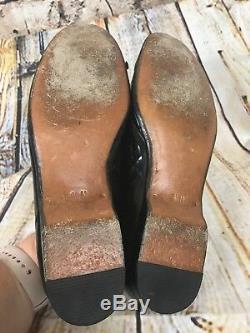 Gravati Womens Ballet Flats Black Patent Leather US Size 8 Handmade In Italy