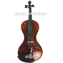 Great 4/4 Hand-Made gourd shaped Violin +Bow +Rosin + Moon Shape Case #AQ559