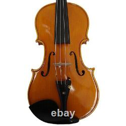 Great 4/4 Hand-made Higher Flamed Violin+Bow+Oblong shape Case #M475