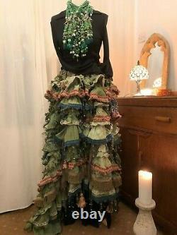 Green Wedding dress Steampunk wedding- alternative wedding RitaNoTiara