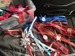 HUGE JOBLOT hair bows HANDMADE girls hair accessories headbands bobbles