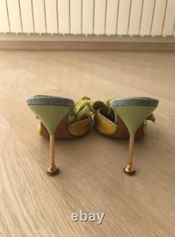 Hamlet couture Green Mules with Chunky Flower Size 6.5 Eur 37