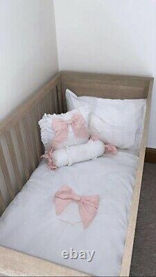 Hand Made Girl, Princess Pink Bow Cot Bedding Set, Crib, Next To Me, Cot