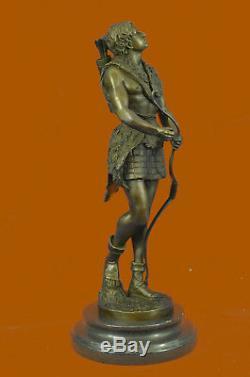 Hand Made Greek Roman Mythology Hercules Statue Archer Bow Arrow Bronze Statue