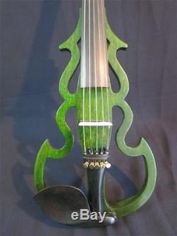 Hand made 5 strings 4/4 electric violin with dragon neck free case bow, cable