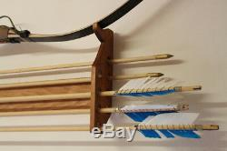 Hand made bow and arrow rack for light bare bow (bow and arrows NOT included)