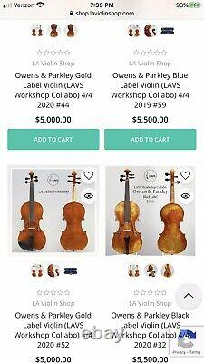 Handmade 4/4 Violin Guarneri Design 2011 Owens & Parkley USA WithCase & Bow