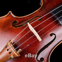 Handmade Antique 4/4 Full Size Violin with Fiddle Bow Bridge Case Kit Gifts