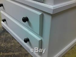 Handmade Classique Bow Fronted 5 Drawer Narrow Chest Ivory Cream No Flat Packs