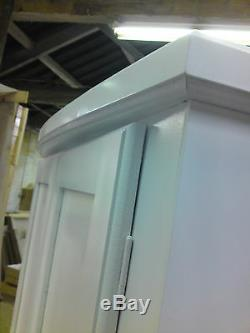 Handmade Classique Bow Fronted Gents 2 Drawer Wardrobe Ivory No Flat Packs