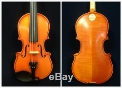 Handmade Kapok V888 Premium 1/2 Size Solid Wood Violin Pack-Foam Case, Rosin, Bow