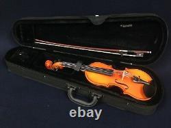 Handmade Kapok V888 Premium 1/8 Size Solid Wood Violin Pack-Foam Case, Rosin, Bow
