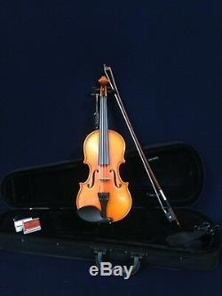 Handmade Kapok V888 Premium 3/4 Size Solid Wood Violin Pack-Foam Case, Rosin, Bow