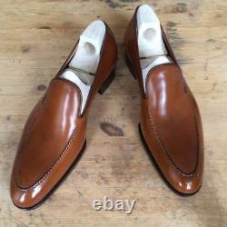 Handmade Men Tan color Leather shoes moccasins Men tan leather formal shoes