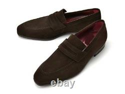 Handmade Men brown suede Moccasins Men suede casual shoes Leather Shoes for men