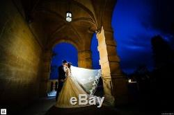 Handmade Silk/Lace Long-Sleeved Ivory Wedding Dress With Detachable Back Bow