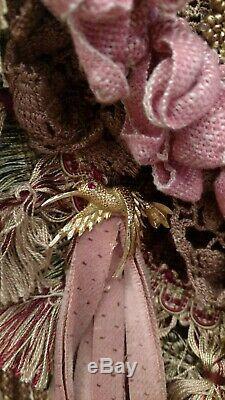 Handmade Tapestry Carpet Bag Large Fringe Purse Vintage Lace Fabric Boho tmyers