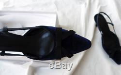 Handmade Women Shoes Velvet Slingback Sandal Bow Knot Galop Blahnik