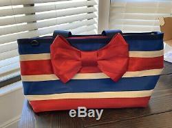 Harvey's Seatbelt Star Spangled Bow Tote, Bow Clutch Wallet & Handmade Dust bag