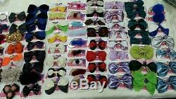 Huge Joblot Handmade Bows clips Hair Accessories Fur Leather 70+ bows resale