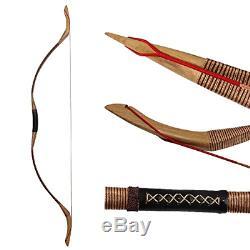 IRQ Mongolian Recurve Bow Traditional Handmade Longbow 35-55lbs Archery Wooden