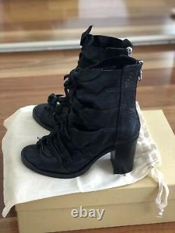 KITX No. 7 open toe bow leather boots Sz 39 NEW in box REDUCED