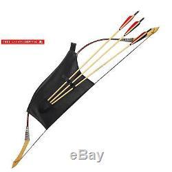 Kainokai Traditional Handmade Longbow Horsebow, Hunting Recurve Archery Bow, Recur