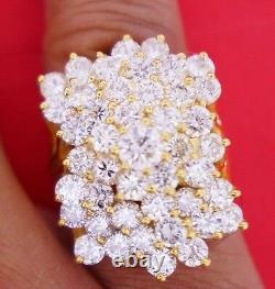 Ladies Huge Diamond Ring 10 Ct Diamonds SI1 10k Yellow Gold Gorgeous