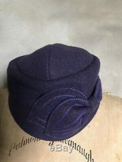 Ladies Lillie & Cohoe Wool Cap Hat Purple Hand-made Canada MAO NOW sz 1 S/M NWT