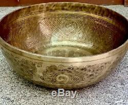 Large 20 Singing Bowl for sound, vibration, yoga, meditation Healing-Handmade Bow