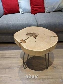 Live Edge/Waney Edge Bow Tie Inlay Handmade Coffee/Side Table 2&1/4 inch thick