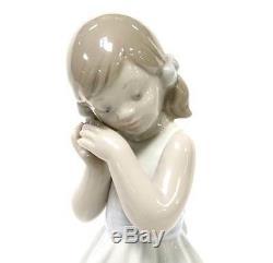 Lladro Sweet Princess Little Girl Dress Flowers Bows Pigtails Handmade Spain