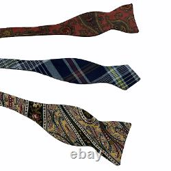 Lot of 10 Vintage Polo Ralph Lauren Silk Bow Ties Hand Tie Colorful Made in USA