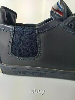 Louis Vuitton Trainers Leather Colour Dark Blue UK Size 9 Used in Excellent