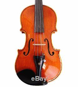 #M401 Used/Old 1/4 Hand-Made Solid Wood One Piece Violin+Case+Octagona Bow+Rosin