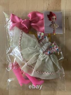 Mab Graves OOAK Handmade Blythe Doll Complete Outfit Dress, Boots & Bow Unused