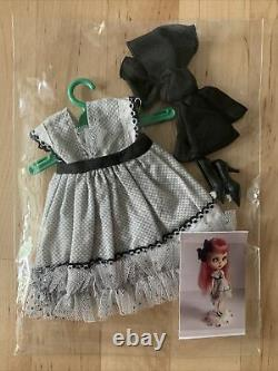 Mab Graves OOAK Handmade Blythe Doll Complete Outfit Dress, Shoes & Bow Unused